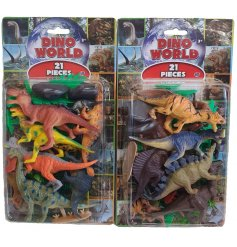 Part of the Dino World Range, this pack of Dino figures will be sure to bring entertainment to any little one