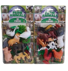 A pack of assorted Farm Animal Figures,