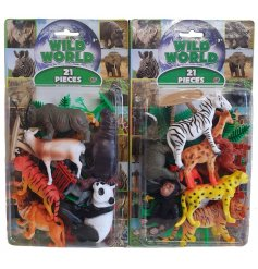 Part of the Wild World Range, this pack of Safari figures will be sure to bring entertainment to any little one