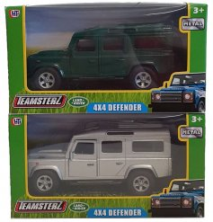 A mix of Teamsterz 4X4 Landrover Defender Cars