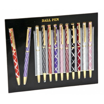 Glitzy Laser Cut Ball Point Pens