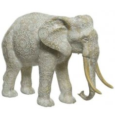 this large standing decorative Elephant Ornament will be sure to have pride of place in any home space
