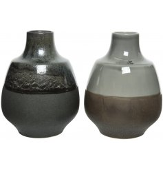 this mix of round earthenware vases are a must have in any contemporary home