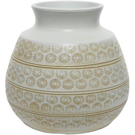 Terracotta Sand Vase, 24cm