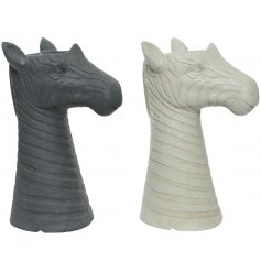 A trendy assortment of Zebra shaped vases, made from a Fibreclay basing