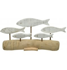 Add this decorative driftwood ornament to any windowsill or side for a Charming Coastal feel