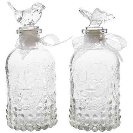 Vintage Luxe Ridged Bottles, 2asst
