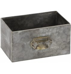 A vintage inspired dual purpose home accessory. Use as a planter or practical storage unit.