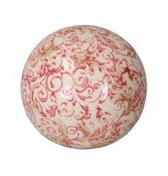 A vintage inspired decorative garden sphere, suitable for interior and exterior decoration.
