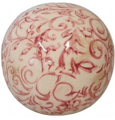 Inspired by the Provence this decorative sphere is brimming with French country charm.