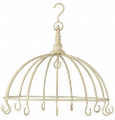 A distressed hanging hook unit, perfect for displaying baubles, jewellery or additional hanging decorations!