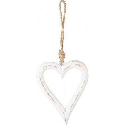 Rustic Heart Hanger, Large 26 cm