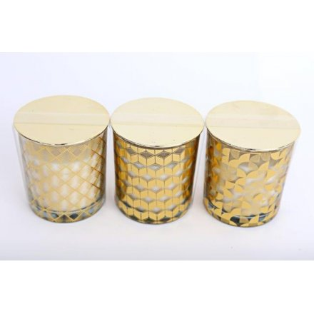 10 cm Geometric Gold Scented Candles