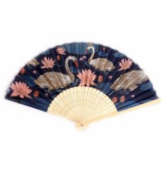 this golden edged fan decoration will be sure to bring a luxury touch to any home space