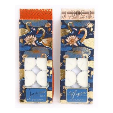 Pack of 10 Scented Japanese Swan Tealights 21.5 cm