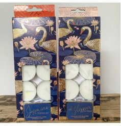Scented Japanese Swan Tealights in a choice of Lily Blossom & Cedar or Jasmine & Gingerlily