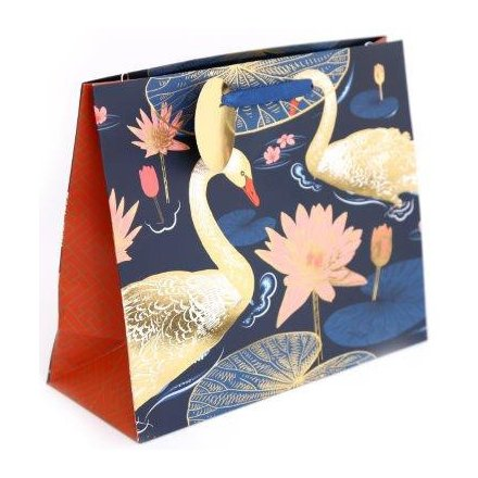 Luxury Gold Swan Giftbag, 23cm