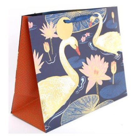 Luxury Gold Swan Giftbag, 33cm
