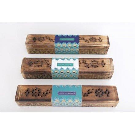 Jewel Peacock Incense Box 31 cm
