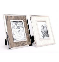 "A great way to display your treasured photos - this wood effect photo frame can take an image 4"" x 6"""