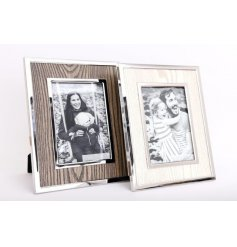 Quality photo frame with wood effect surround in a choice of shades - suits 5 x 7 image