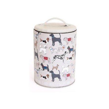 Dog Pattern Storage Tin Small