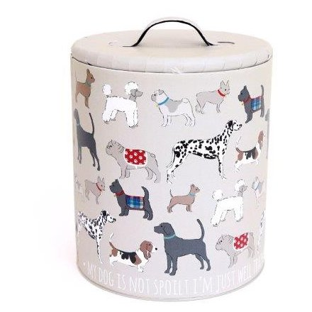 22 x 16.5 Storage Tin Dog Print