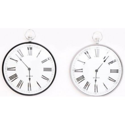 Metal Fob Watch Wall Clock 39 cm