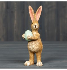 A small resin bunny ornament thats sure to stand proudly on any side table or shelf in the home