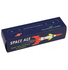 Space Age Colouring Pages   Filled with a range of fun colouring pages and games, this Space Age themed toy will be sure