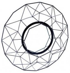 Sure to add a statement look to any wall in the home, a big and bold geometric wire framed mirror in a black tone