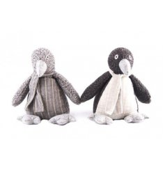 Perfect little accessories for any home interior, these grey fabric penguin doorstops will be sure to tie in with any ho