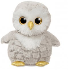 A super snuggly owl soft toy with added sparkly accents and glittery eyes