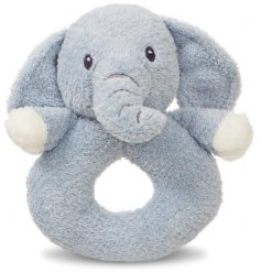 This fuzzy grey Elly Elephant is made from a super soft and snuggly fabric!