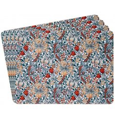 this stylish set of placemats will be sure to add a Whimsical inspired feature to any kitchen