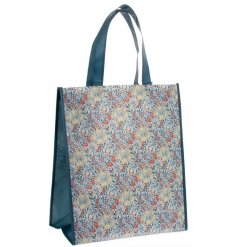 A stylish fabric shopping bag featuring a beautiful and intricate Golden Lily design