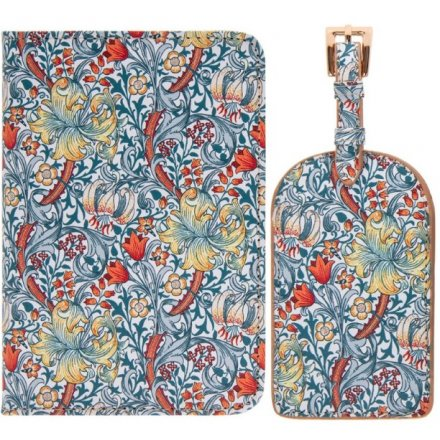 this set of passport cover and luggage tag will be sure to add a Whimsical inspired feature to any holiday!