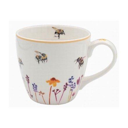 Busy Bee Garden Breakfast Mug