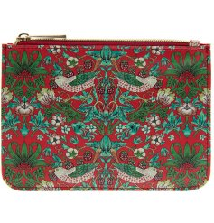 A vintage inspired purse featuring a beautiful and intricate Red Strawberry thief decal