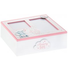 A beautiful wooden box with an added pink Bird and Ellie decal