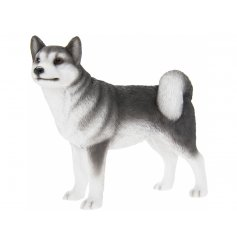 Charming polyresin ornament of a black & white coloured Husky dog, giftboxed. Measures approx 15 x 7 x 14 cm