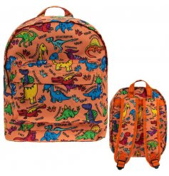 A fantastic children's sized backpack in a popular and colourful dinosaur design