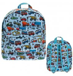 The perfect rucksack for children with an interest in tractors, cars and rescue vehicles.