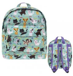 A fantastic children's sized backpack in a popular and colourful cat and dog design.