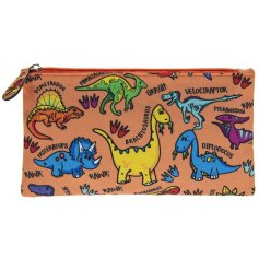 A colourful dinosaurs species pencil case for kids.