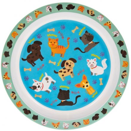 Dinner Plate, Cats and Dogs