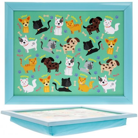Cute Cats and Dogs Lap Tray