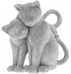 Add a touch of glamour to your home interior with this diamonte covered cat ornament