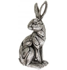 A fine quality sitting hare ornament from our new natural world collection.