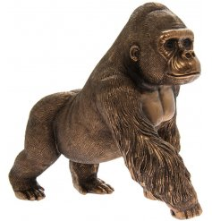 A fine quality, wonderfully detailed gorilla figure in bronze from our popular Reflections range.